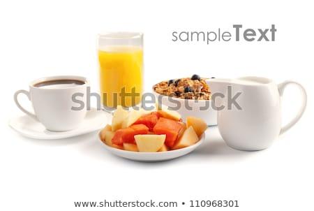 завтрак · таблице · лоток · вкусный · деревянный · стол · продовольствие - Сток-фото © dashapetrenko