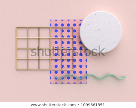 round 3d object on blue studio background Stock photo © SArts