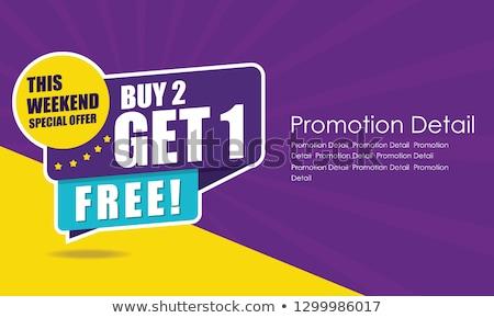 Season offer poster vector illustration Stock photo © studioworkstock