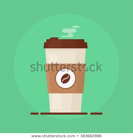 Paper coffee cup isolated icon in flat style Stock photo © studioworkstock