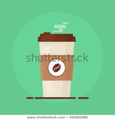 бумаги · чашку · кофе · иллюстрация · кофе · из - Сток-фото © studioworkstock