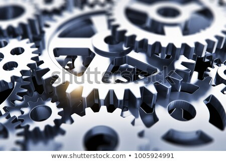 Business Solution - Mechanism of Shiny Metal Gears. 3D. Stock photo © tashatuvango