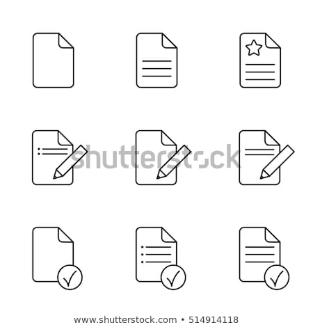 irat · papír · skicc · ikon · izolált · levélpapír - stock fotó © taufik_al_amin