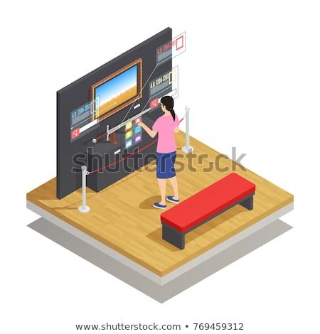 Digitale composiet vrouw realiteit grijs Stockfoto © wavebreak_media