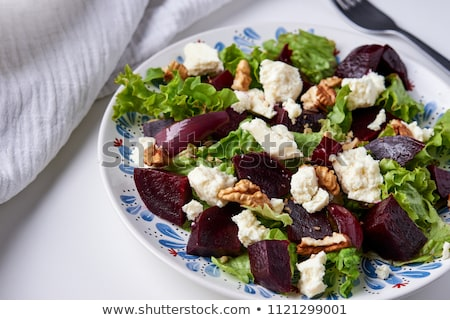 Salade zachte geitenkaas eigengemaakt groenten gezonde voeding Stockfoto © Melnyk