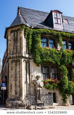 Roland statue at Rathaus Quedlinburg in Germany Stock photo © lunamarina