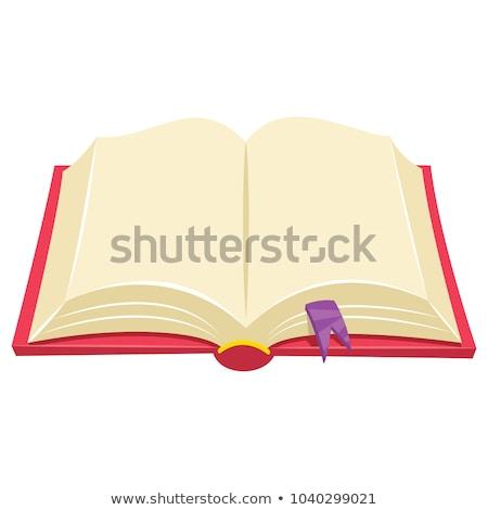 nyitva · barna · notebook · toll · felső · kilátás - stock fotó © orensila