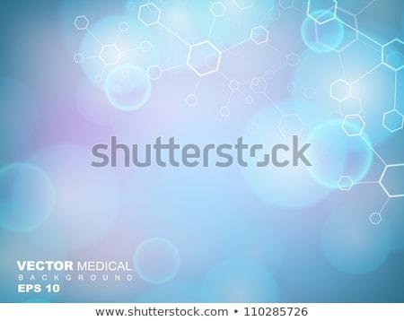 kék · molekulák · tudomány · orvosi · egészségügy · absztrakt - stock fotó © SArts