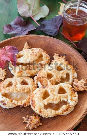 Scary ciasto dynia placki szczęśliwy halloween Zdjęcia stock © BarbaraNeveu