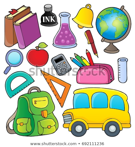 Apple School Bell Illustration Stock photo © lenm