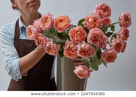 Homme · fleuriste · fleur · fleurs - photo stock © artjazz