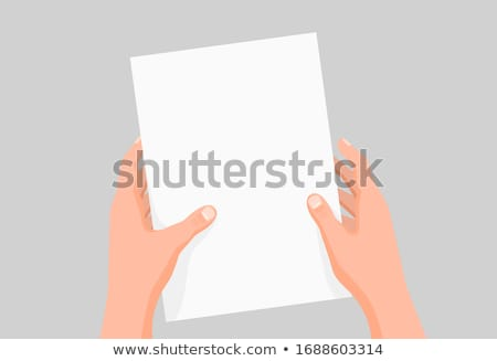 Document mannelijke hand kleurrijk poster geïsoleerd Stockfoto © robuart