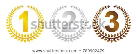 nyertes · babér · koszorú · csillagok · izolált · fehér - stock fotó © robuart