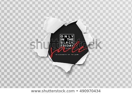 Black friday vendita poster carta strappata stile abstract Foto d'archivio © SArts