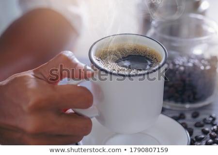 コーヒー · 小 · 眼鏡 · 表 · 食品 - ストックフォト © grafvision