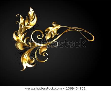 Asymmetric gold frame scroll Stock photo © blackmoon979