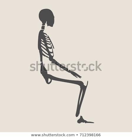 Сток-фото: Cartoon · зомби · сидят · иллюстрация · мало · детей