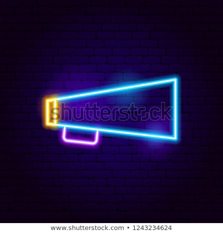 Bullhorn Neon Sign Stock photo © Anna_leni