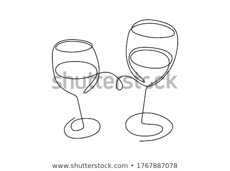 wine glasses cheers vector logo icon stock photo © blaskorizov