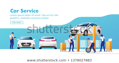 Diagnostics service of cars at auto station Stock photo © jossdiim