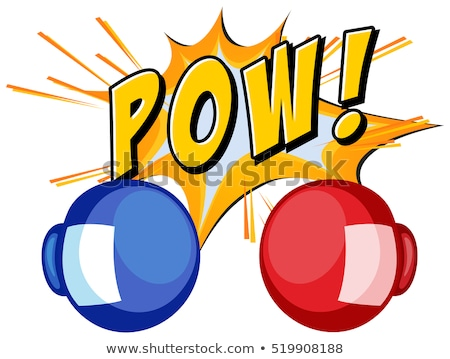 Expression word pow with boxing gloves Stock photo © colematt