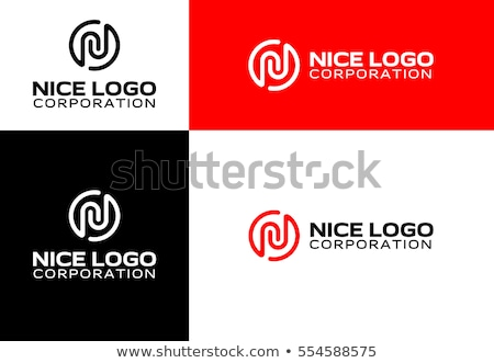 letter n logo icon vector sign logotype abstract stock photo © blaskorizov