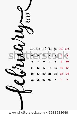 év havi naptár kézzel írott jelző fehér Stock fotó © ivelin
