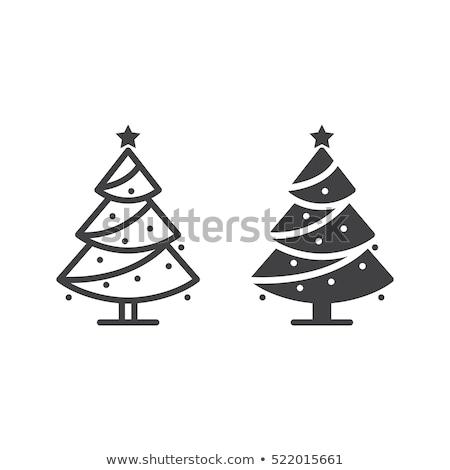 クリスマスツリー · ベクトル · アイコン · 孤立した · 白 · 葉 - ストックフォト © robuart