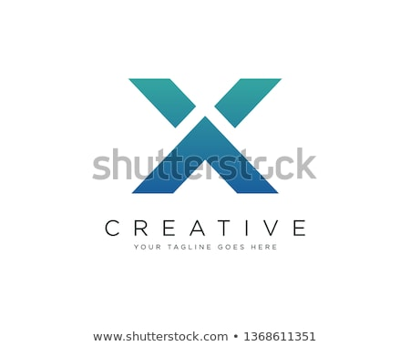 Stock photo: x letter vector logo logotype icon symbol company sign