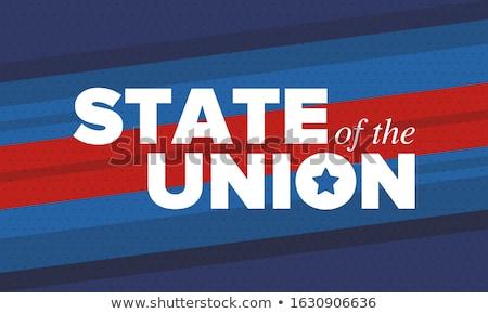 баннер шаблон президент человека фон кадр Сток-фото © colematt