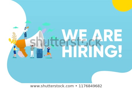 Vector job cocept illustration with people. Job poster stock photo © Giraffarte