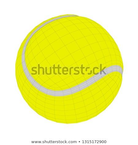 3d · render · amarelo · bola · de · tênis · verde · tênis · bola - foto stock © magraphics