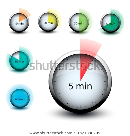stopwatch with expiring time 50 minutes web icon Stock photo © mizar_21984
