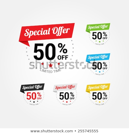 Special Offer Products Set Vector Illustration Stock photo © robuart