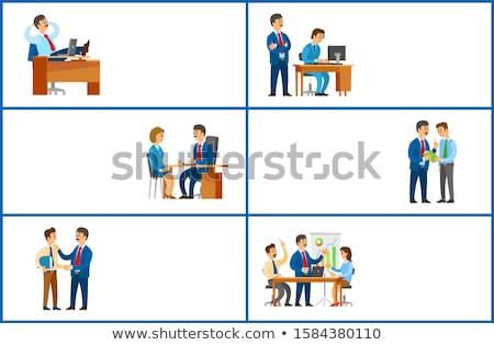 Pracy zadanie celu szef rozmowa kwalifikacyjna kandydat Zdjęcia stock © robuart