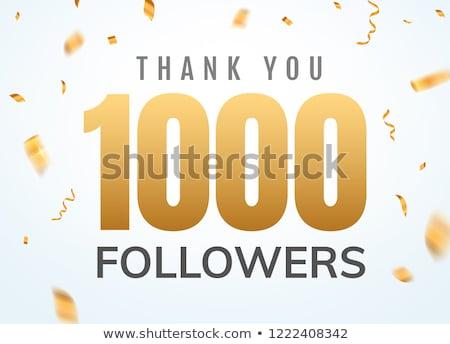 1000 takipçi kutlama afiş sosyal medya dizayn Stok fotoğraf © SArts