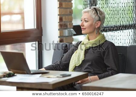 美しい ブロンド ビジネス女性 ホームオフィス 仕事 ストックフォト © dash