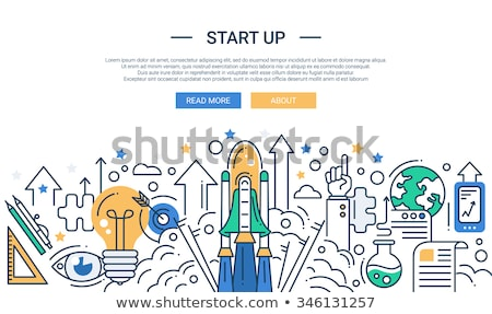 Negocios solución banner grande equipo de negocios Foto stock © RAStudio