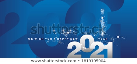 Merry Christmas, Happy New Year Lettering Wishes Stock photo © robuart