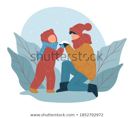Wintertime Mother and Kid Spending Time Outdoors Stock photo © robuart