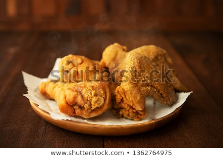 plate of original recipe fried chickens ストックフォト © szefei