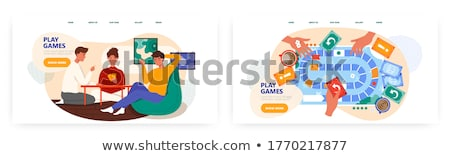 Board game concept landing page. Stock photo © RAStudio