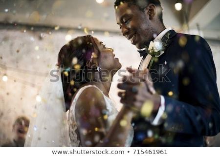 Esküvői ceremónia pár szeretet tánc emberek buli Stock fotó © robuart