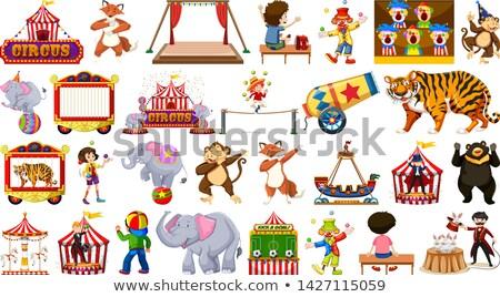 Grande circo establecer ilustración hombre arte Foto stock © bluering