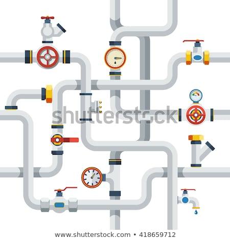 Water Pipes flat icon Stock photo © netkov1
