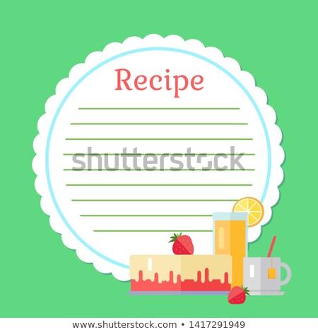 Boş yemek kitabı içmek vektör Stok fotoğraf © robuart