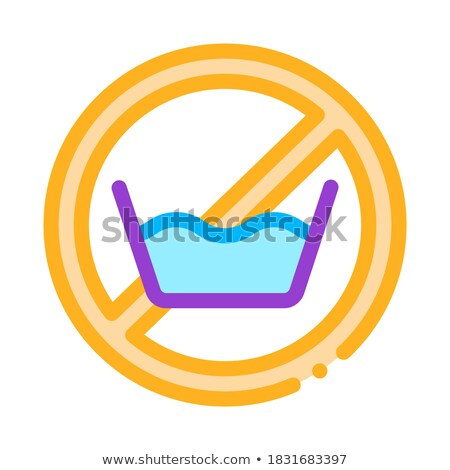 laundry service no presoak vector thin line icon stock photo © pikepicture
