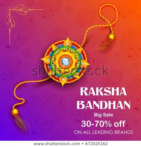 decorative rakhi (wristband) sale banner for raksha bandhan Stock photo © SArts