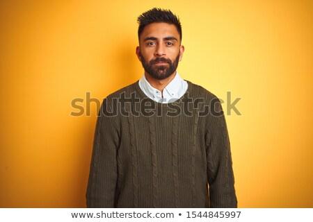 boldogtalan · indiai · férfi · pozició · áll · munkás - stock fotó © dolgachov