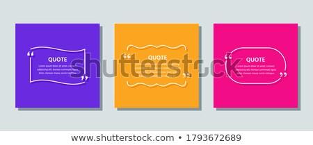 Kolorowy dialog Bańka flagi ilustracja biały Zdjęcia stock © get4net